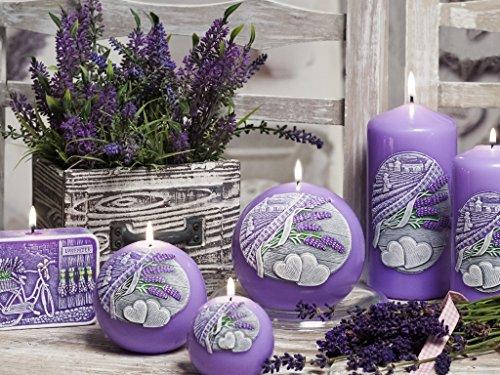 Bartek Lavande Kiss figurine Soap-shaped décoratifs toute l'année Bougie parfumée, violet, 10cm x 7cm