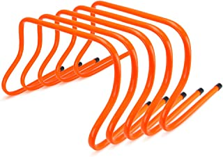 Crown Sporting Goods Speed Agility Training Hurdles, Pack of 5, Choose from 6-inch, 9-inch, or 12-inch by