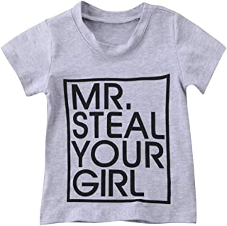 0-5T Toddler Baby Boy Tee Mr Steal You Girl T-Shirts Tees Tops Kids Summer Clothes