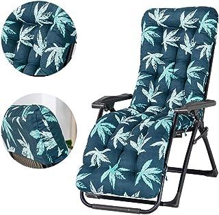 Cojines para tumbonas, 170 x 53 x 8 cm, banco plegable para jardín, antideslizante, para sofá, portátil, grueso, acolchado, reclinable, relajante, para silla, para viajes, vacaciones (solo cojín)