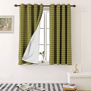Room Darkening Curtains tartan seamless pattern background autumn color panel plaid tartan flannel shirt patterns t print grommet kid blackout curtains (1 Pair, 27.5