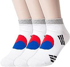 Sockstheway Womens Korean noodle Shin Ramen Shin Ramyen, Korean Flag Ankle Casual Socks (Pack of 1, 3, 5 Pairs)