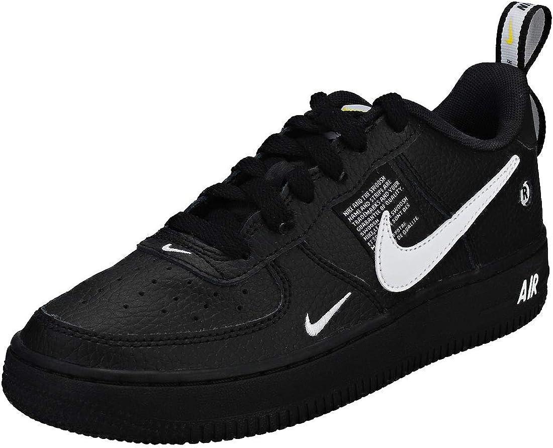 Nike Air Force 1 Lv8 Utility (Gs) – Black/White/Black/Tour Yellow ...
