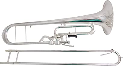 F Key Contrabass Trombone Silver plated with Case and Mouthpiece musical instruments professional