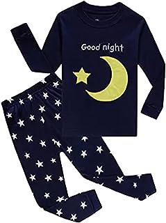Pijama Niño, Conjunto Pijamas Niños con Pantalón y Camiseta de Manga Larga, Ropa Niño de Dormir 100% Algodón, Regalos para...