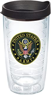 Tervis 1062038 Us Army Tumbler with Lid, 16 oz, Clear