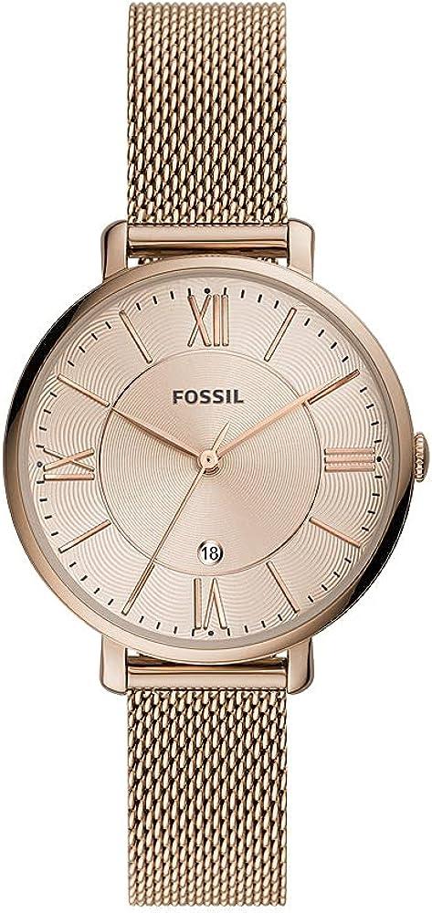Reloj Jacqueline para mujer, de Fossil, de acero inoxidable en tonos marrones y con tres agujas, ES5120