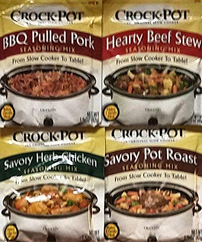 BBQ Pulled Pork, Herzhafte Rindfleisch Eintopf, Bohnenkraut Huhn, Bohnenkraut Topf Braten–langsam Herd Würze Mix–Variety Pack von 4–1,5oz je