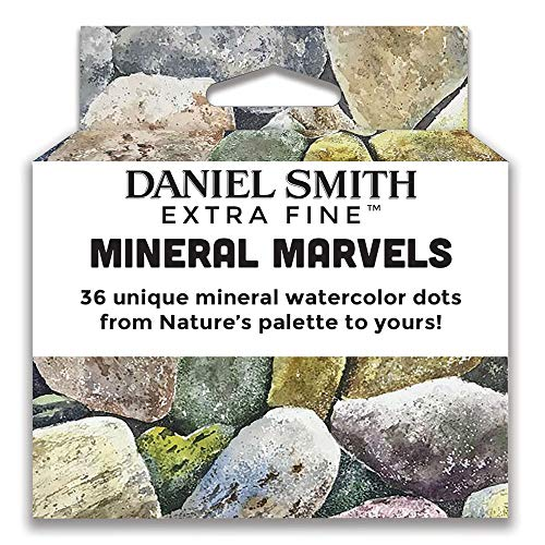 Daniel Smith Extra Fine Watercolor Paint, Mineral Marvels, Contains 36 Unique Mineral Watercolor dot Samples from Nature's Palette (285900105)