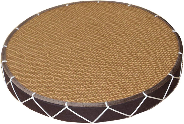 FOTEE Floor Chair Yoga Cushion, Portable Tatami Chair Lounger Couch Recliner Meditating,Brown_50x50x5cm