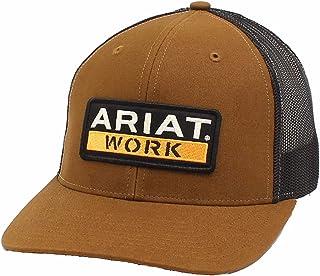 قبعة رجالي R112 من ARIAT مع إبزيم خلفي، بني