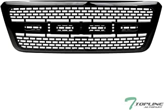 Topline Autopart Glossy Black Raptor Square Mesh Front Hood Bumper Grill Grille ABS For 04-08 Ford F150