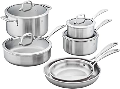 ZWILLING Spirit Stainless Steel Cookware Set, 10pc, Silver