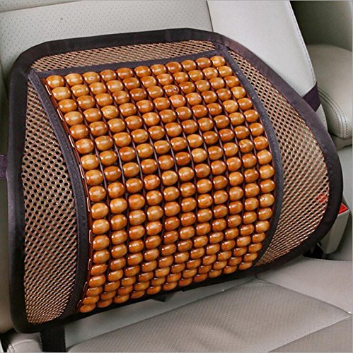 Dometool UK Auto Accessoires Lumbar Gooi Kussen taille Ondersteuning Thuis Kantoor Stoel Lumbar Brown Wooden Bead