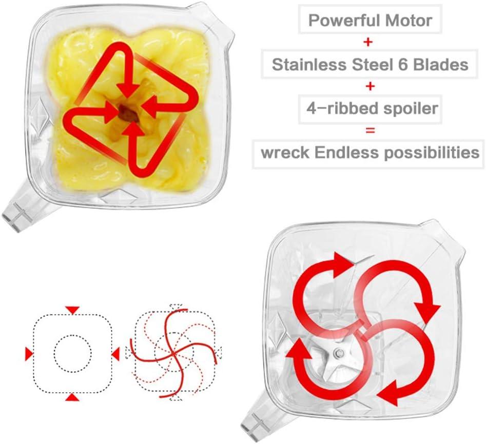 Licuadora de Mostrador, Exprimidor de Frutas Eléctrico 2200W, Máquinas de Jugo Personal Con Cuchillas de Acero Inoxidable Y Ajuste de Tercera Marcha,Rojo White