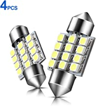 DE3175 LED Bulb 31mm Canbus Error Free 700 Lumens DE3021 LED Bulbs Fast Heat Dissipate 3020 Chipset for Map Dome Door Courtesy Light White 6500K 4PCS By ZonCar