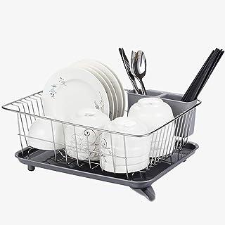 DJSMsnj Rangement de cuisine, étagère de cuisine multifonction, panier de vidange en acier inoxydable, égouttoir à vaissel...