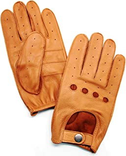 YISEVEN Men's Deerskin Leather Driving Gloves Unlined