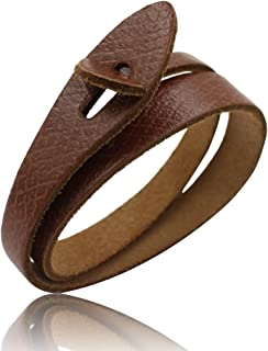 YOYONY MutiLayer Design Cuff Wristband Double Wrapped Stackable Italian Genuine Leather Bracelet Bangle