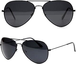 UV400 Aviator Vintage Retro Unisex Men Women Eyewear Sunglasses Black