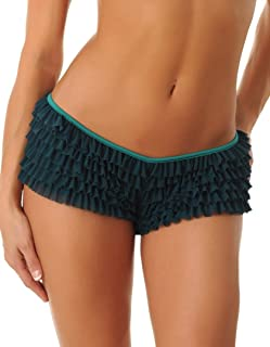 Sexy Boy Short Panties for Women with Ruffles and Bow