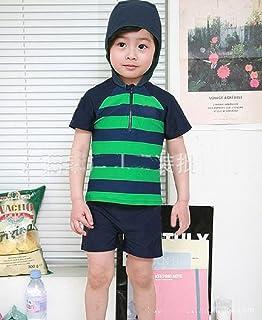 子供 男の子 水着 ラッシュガード ボーイ水着 キッズラッシュガード フード付き ボーダー 半袖 025
