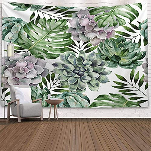NTtie Arazzo, da Parete, Decorazione Domestica, per Il Soggiorno o la Camera da Letto, Parete Decorativa del Panno del Fondo di Arte del Cactus
