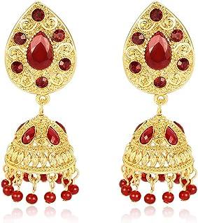 J_FEIFEI, orecchini etnici indiani da donna pendenti, oro di lusso con strass nappa ciondolo tradizionale intagliato gioie...