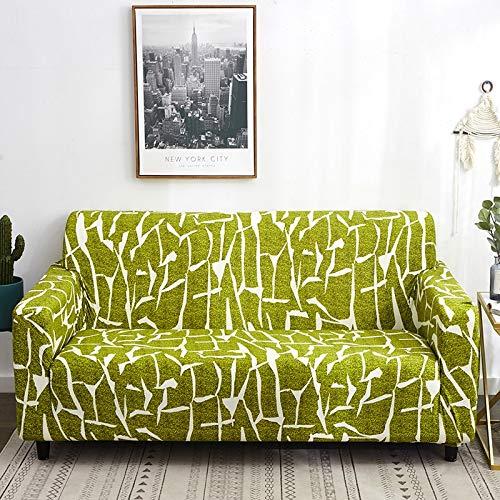 Fundas de sofá elásticas con Estampado Floral para Sala de Estar, Toalla de sofá, Funda de sofá Antideslizante, Funda de sofá elástica A11, 1 Plaza