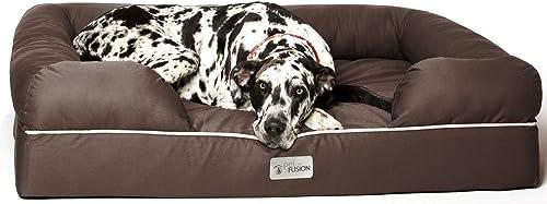 PetFusion Ultimate Dog Bed, Orthopedic Memory Foam, Multiple Sizes/Colors, Medium Firmness Pillow, Waterproof Liner, ...