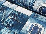 LushFabric Denim Jeans-Effekt, für Innendekoration,