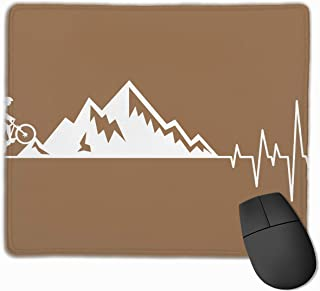 Mountain Bike Heartbeat Non-Slip Rubber Mouse Mat Mouse Pad for Desktops, Computer, PC and Laptops 9.8 X 11.8 Inch (25x30cm)