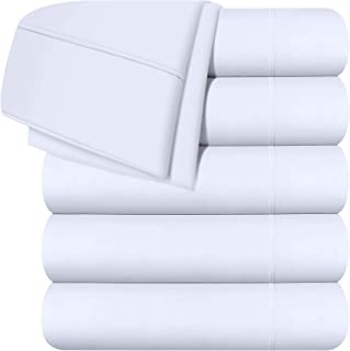 Utopia Bedding Twin Flat Sheet - White (6 Pack)
