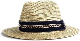 LiWen Zheng 2019 Fashion Sun Hat Straw Dark Blue Cloth Arrow Pattern Decoration Women's Men's Breathable Summer Sun Hat Ladies Men