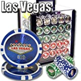 Brybelly 1,000 Ct Las Vegas Set - 14g Clay Composite Chips with Acrylic Display Case for Casino Games