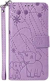 Positive Cover Compatible with Samsung Galaxy S10e, purple PU Leather Wallet Flip Case for Samsung Galaxy S10e