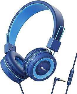 Hoofdtelefoon kinderen, kabel koptelefoon voor kinderen, verstelbare hoofdband, stereogeluid, opvouwbare, ontwarde draden,...