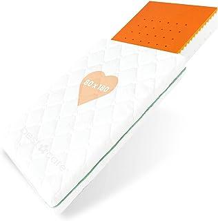 BestCare Visco madrass för spjälsängar | 80x180x13cm | Thermoelastic Memory Foam | Bebis och barnmadrass | Tvättbart Aloe ...