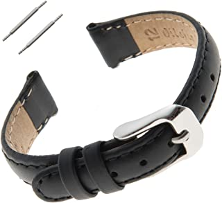 10-14mm Water-Resistant Oilskin Leather Ladies Watch Strap MSW63