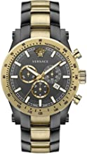 Versace Chronograph Mens Watch Swiss Made Sapphire Crystal Grey/Gold