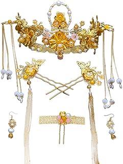 YNYA Tiare Corona da Sposa in Stile Cinese Fengguan Xia's Costume da Sposa Accessori per Capelli Forcine Accessori per l'a...