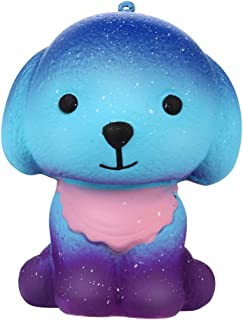 Bokeley Easter Squishies Galaxy Puppy Kawaii Soft Slow Rising Scented Animal Squishies Stress Relief Kids Toy (A)