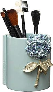 حامل أقلام من الراتنج منظم سطح المكتب ماكياج صندوق تخزين إكسسوارات المدرسة مكتب القرطاسية منظم قلم حامل (اللون: أزرق، الحج...