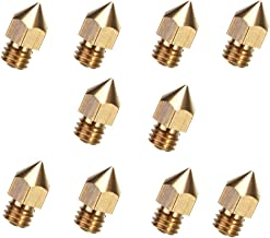Creality 3D MK8 10pcs Brass Nozzles 0.4mm Extruder+10pcs Stainless Steel Nozzle Cleaning Needles+1pcs Tweezers and 1box for 3D Printer Ender 3//Ender3 pro//CR-10 v2