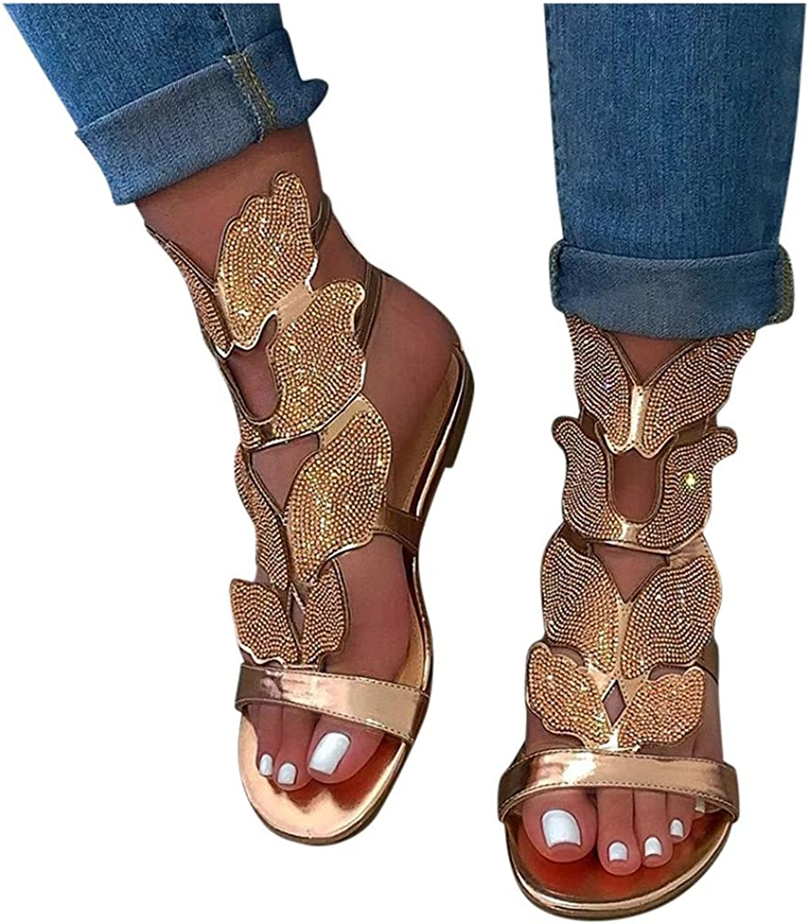 Sandals for Women Wedge,2021 Fashion Tie Dye Ankle Buckle Sandals Summer Beach Sandals Open Toe Espadrille Platform