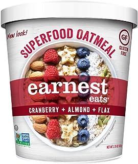 Earnest Eats Gluten-Free Superfood Oatmeal, Quinoa, Oats & Amaranth, Vegan, Healthy Snack, American Blend, 2.35oz Cup, 12-...