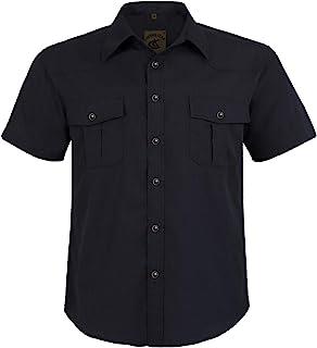 71b0cade Coevals Club Men's Snap Button Down Plaid Short Sleeve Work Casual Shirt