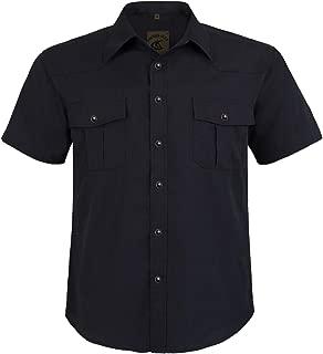 Men's Button Down Plaid Short Sleeve Work Casual Shirt