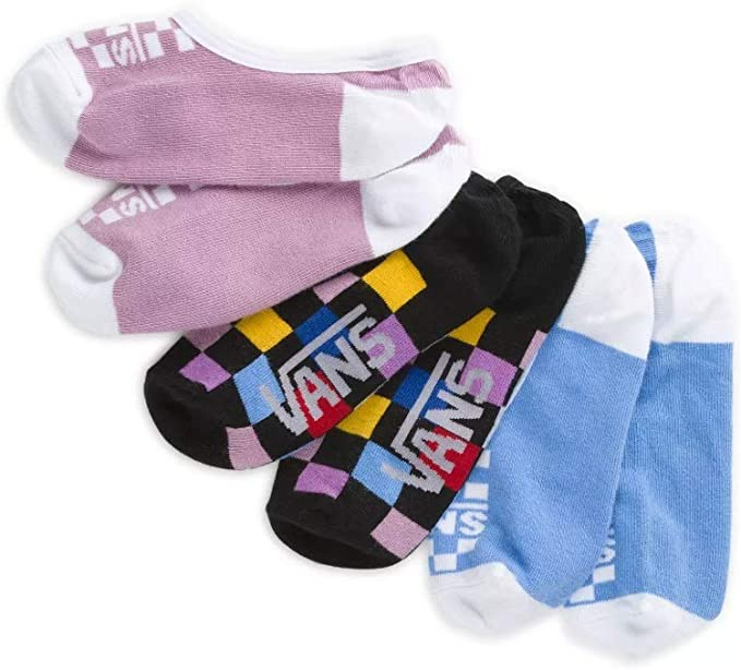 VANS WOMEN'S MULTI CHECK CANOODLE SOCKS 3 PACK SIZE 1-6 US at ...