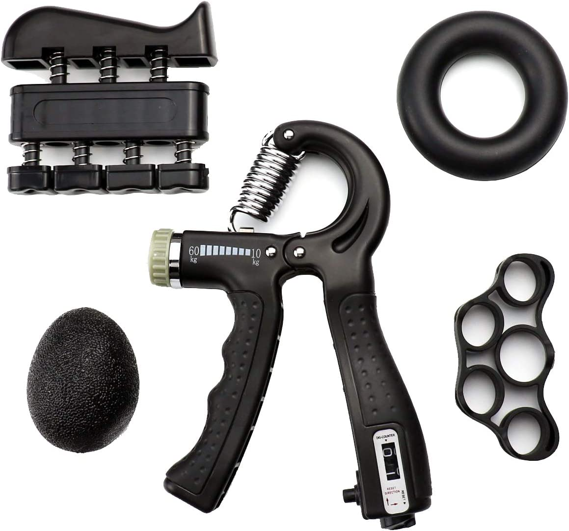 DunkGo Hand Grip Strengthener Shipping included Count Max 44% OFF Forearm Adjustable Set